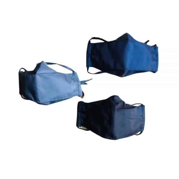 Paga 2 lleva 3 tapabocas ejecutivos 3 capas antifluido lavables