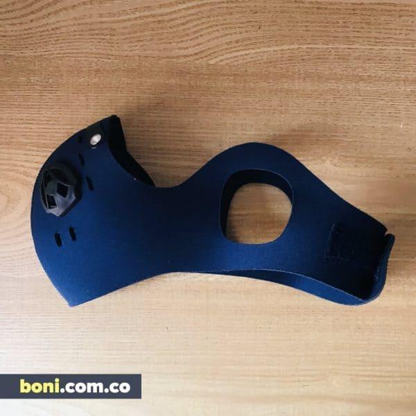 Tapabocas deportivo válvulas y filtros ajuste ajuste lateral y velcro