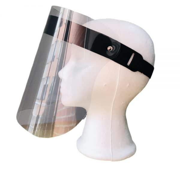 Caretas o visor transparente caucho grueso