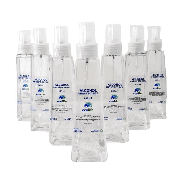 Alcoholantiséptico 96% 250 ml dispensador spray