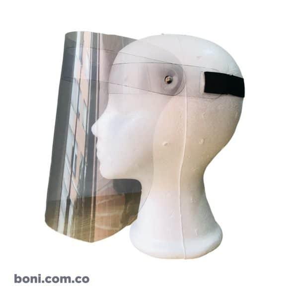 Caretas o visor transparente banda transparente
