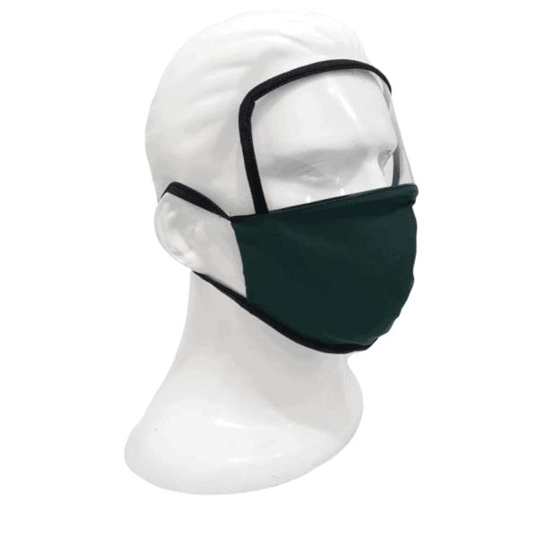 Pack tapabocas reutilizable con visor o protector ocular