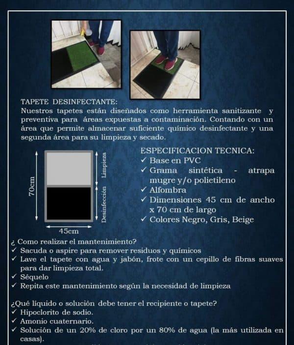 Tapete Desinfectante | Tamaño 70cm x 90cm