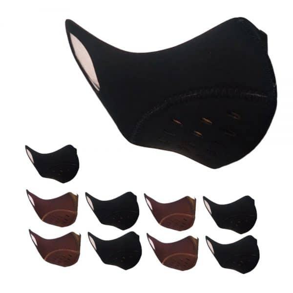 Pack x 10 Tapabocas deportivos con ajuste lateral y filtro antifluidos