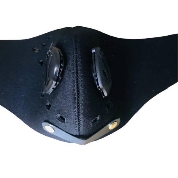 2x1 Tapabocas deportivos con válvulas, filtros intercambiables y ajuste en velcro