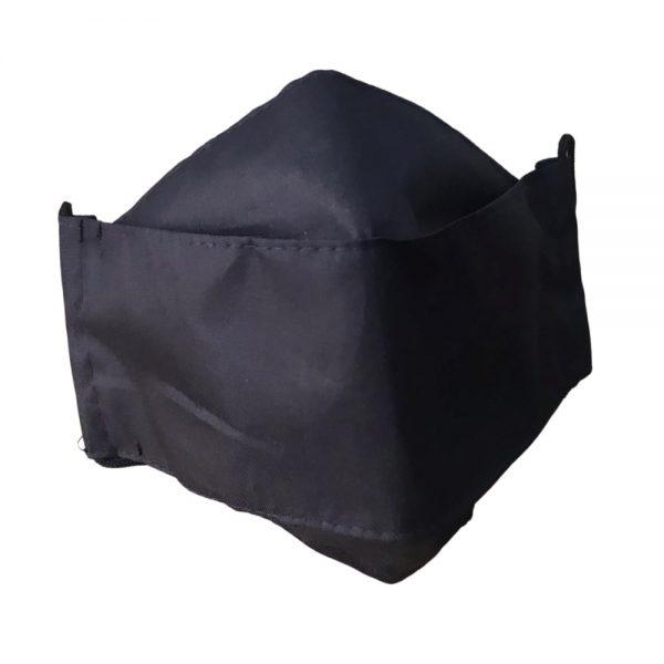 Lleva 4 paga 2 Tapabocas Ejecutivos modelo 3D Antifluido Lavable Negro
