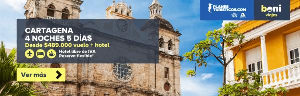ofertas a Cartagena con vuelos en boni.com.co
