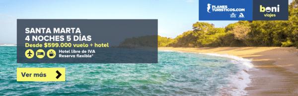 ofertas a Santa Marta con vuelos en boni.com.co