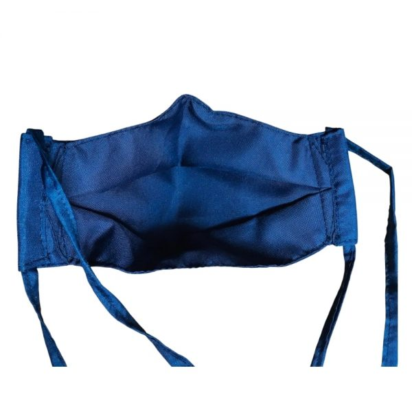 Lleva 4 paga 2 Tapabocas Ejecutivos modelo 3D Antifluido Lavables 3 Capas Azul