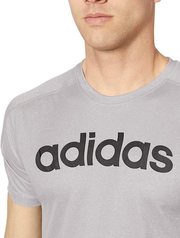 Camiseta Hombre Adidas Move Linear Logo Heather Grey   Original