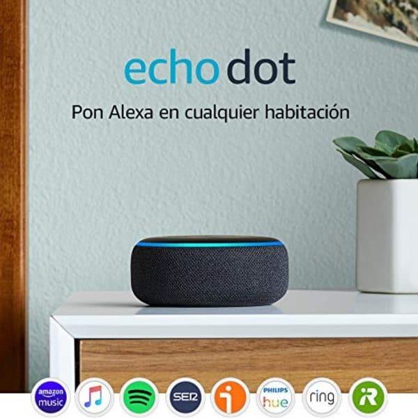 Amazon Echo Dot con Alexa 3ra Generación Altavoz Inteligente Gris Oscuro   Original