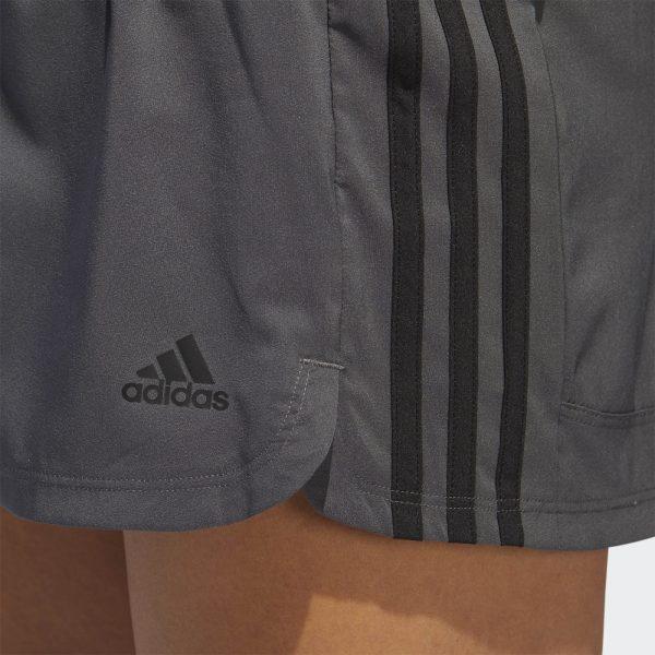 Shorts Mujer Adidas Woven Pacer 3 Stripes Grey | Original