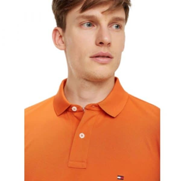 Polo Hombre Tommy Hilfiger Solid Classic Fit Ivy Canteloupe Orange | Original