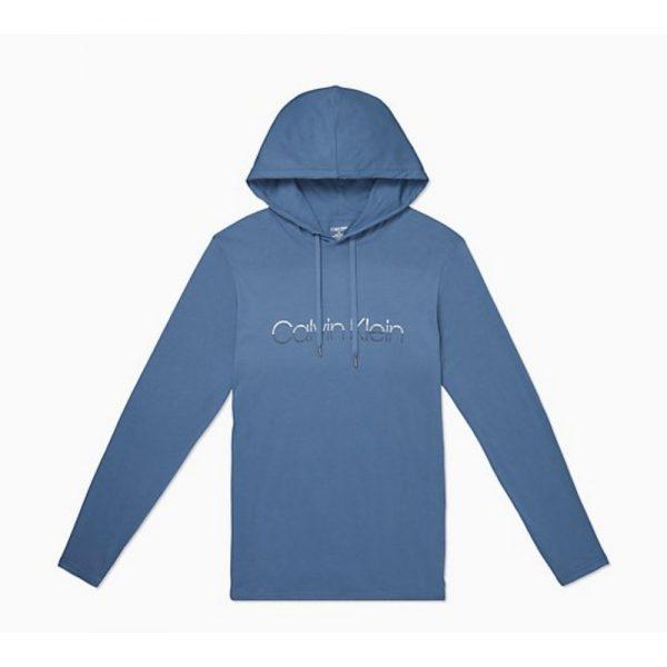 Hoodie Hombre Calvin Klein Fade Logo Pullower Vintage Indigo   Original