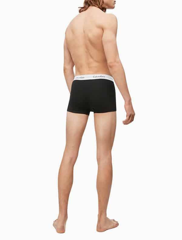 Pack 2 Boxer Hombre Calvin Klein Trunk Cotton Stretch Black Grey   Original