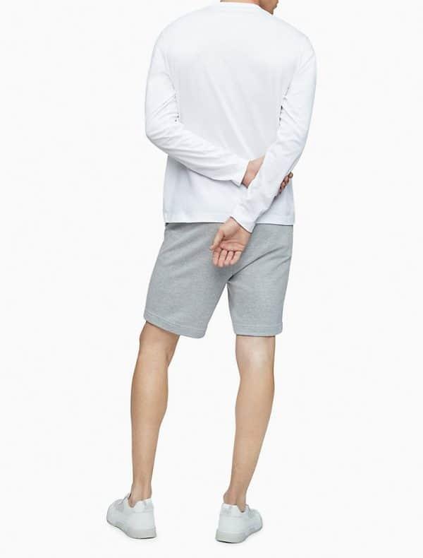 Buzo Calvin Klein Active Logo Graphic Long Sleeve Tee White | Original