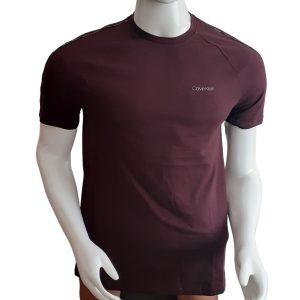 Camiseta Hombre Calvin Klein Athleisure Logo Piping Crewneck Red | Original