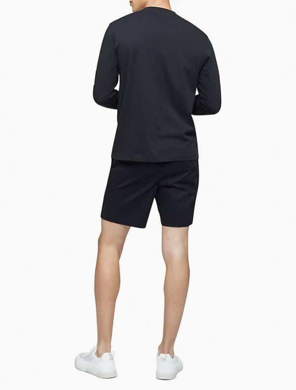 Buzo Calvin Klein Active Logo Graphic Long Sleeve Tee Black   Original
