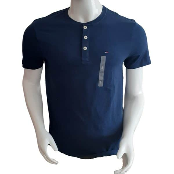Camiseta Hombre Tommy Hilfiger Essential Henley Navy | Original