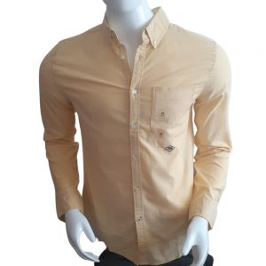 Camisa Manga Larga Hombre Tommy Hilfiger Custom Fit Essential Solid Yellow   Original