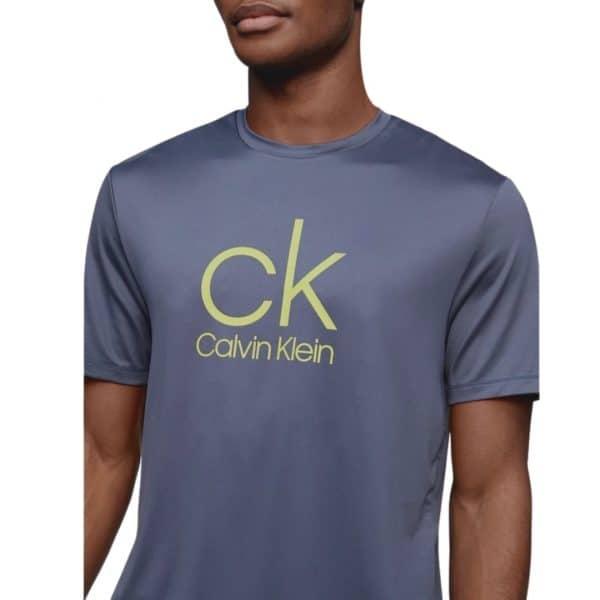 Camiseta Hombre Calvin Klein CK Logo Crewneck Lime   Original
