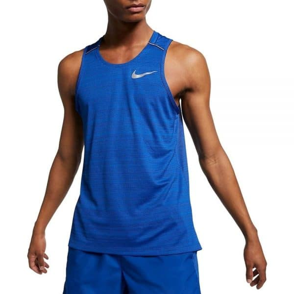 Camiseta Hombre Nike Men's Dri Fit Miler Sin Manga Force Blue   Original