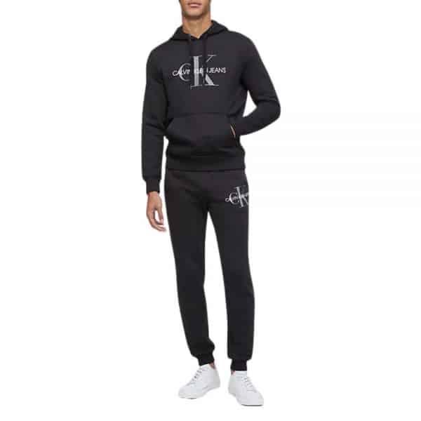 Conjunto Hoodie + Jogger Hombre Calvin Klein Monogram Logo Fleece   Original