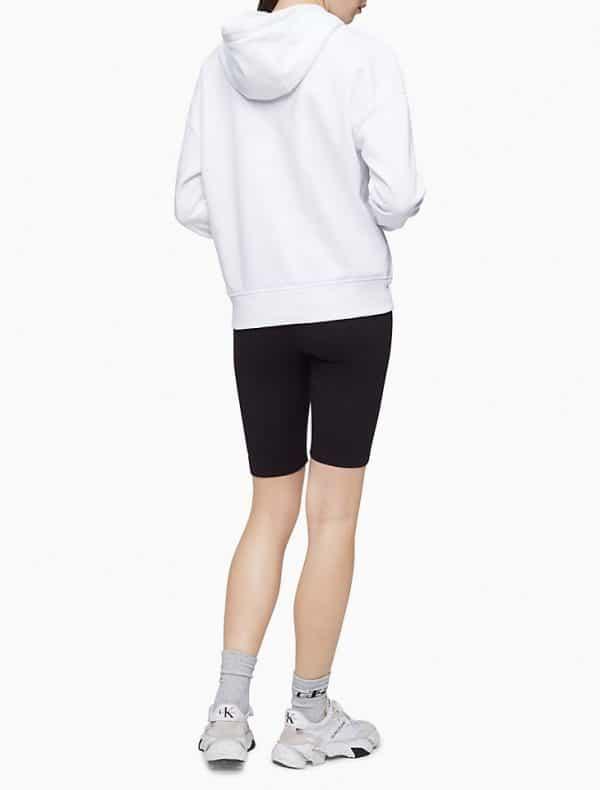 Hoodie Mujer Calvin Klein Performance Logo Oversized Pocket White   Original