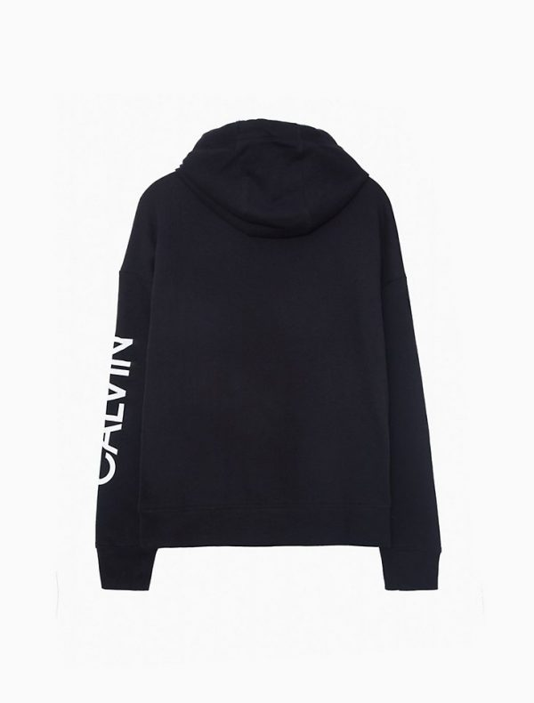 Hoodie Mujer Calvin Klein Performance Logo Oversized Pocket Black   Original