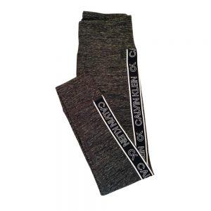 Leggins Mujer Calvin Klein Performance Logo Stripe High Waist 7/8 Grey | Original