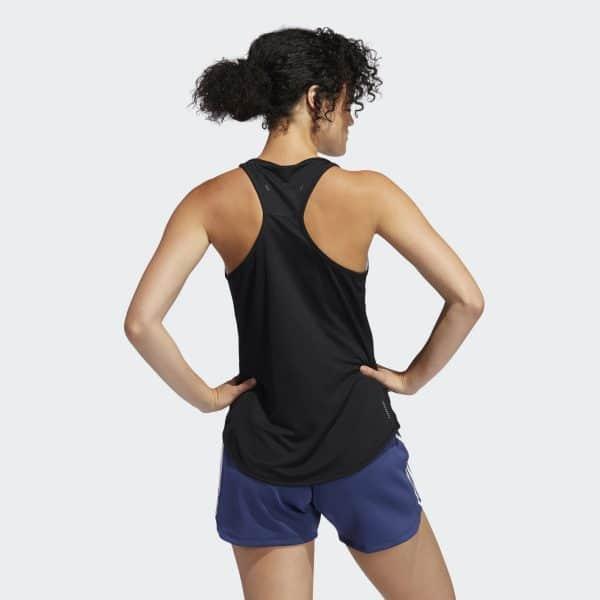 Camiseta Mujer Adidas Own The Run 3 Stripes Pb Tank Top Black | Original
