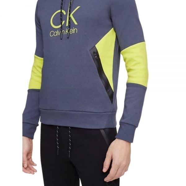 Hoodie Hombre Calvin Klein Scuba Interlock Drawstring Grey - Green | Original