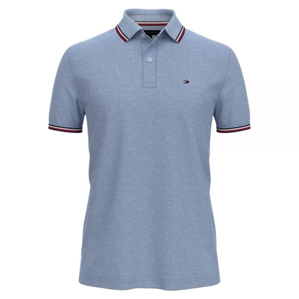 Polo Hombre Tommy Hilfiger Custom Fit Essential Performance Chambray Blue Heather   Original