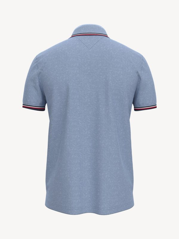 Polo Hombre Tommy Hilfiger Custom Fit Essential Performance Chambray Blue Heather | Original