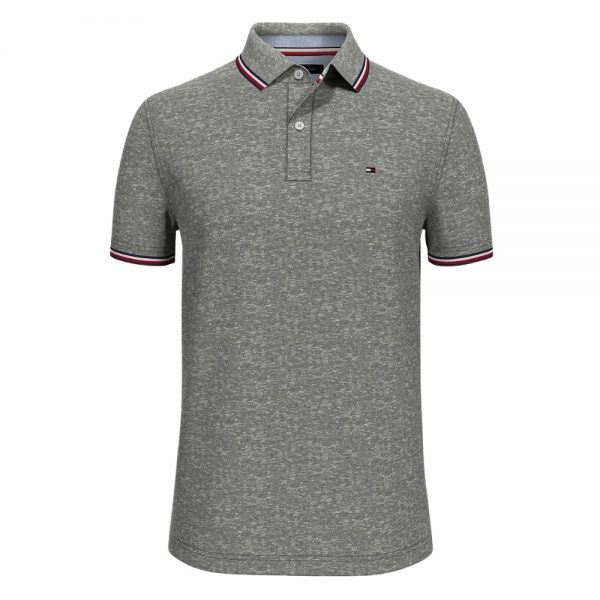 Polo Hombre Tommy Hilfiger Custom Fit Essential Performance Grey   Original