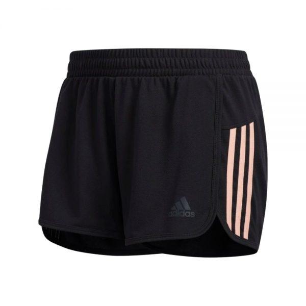 Shorts Adidas Woven Pacer 3 Bandas Black Glow Pink   Original