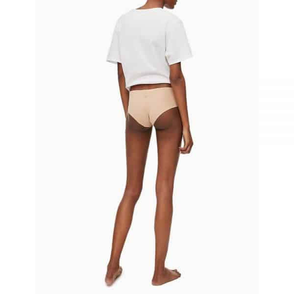 Pack 2 Panty Mujer Calvin Klein Invisible Hipster Beige   Original