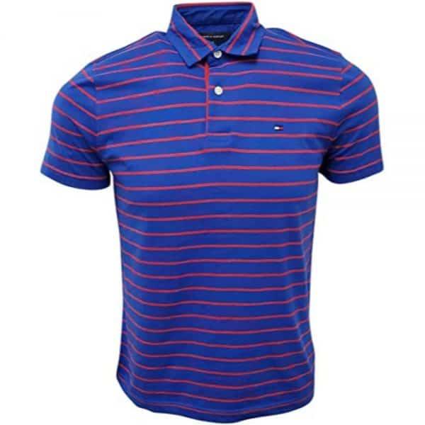 Polo Hombre Tommy Hilfiger Stripes Blue Cotton Red | Original