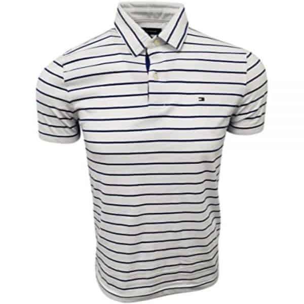 Polo Hombre Tommy Hilfiger Stripes Navy Cotton White | Original