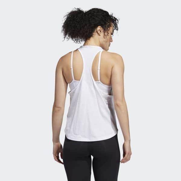 Camiseta Mujer Adidas Univ Vol Tank Top White   Original