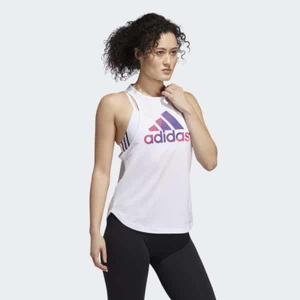 Camiseta Esqueleto Mujer Adidas Univ Vol Tank Top White | Original
