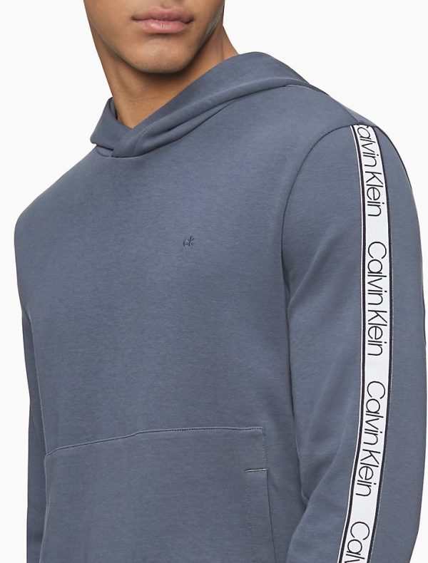Hoodie Hombre Calvin Klein Athleisure Logo Tape India Ink | Original
