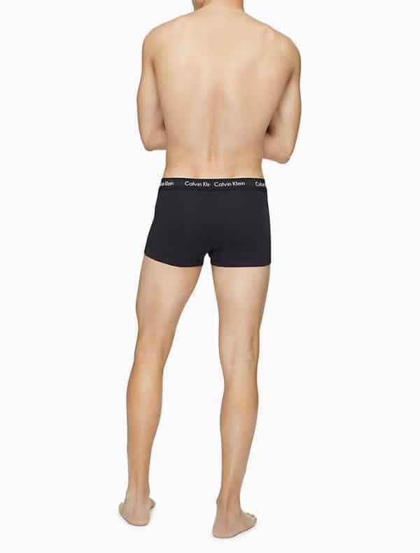 Pack 3 Boxer Hombre Calvin Klein Low Rise Trunk Cotton Stretch Black | Original