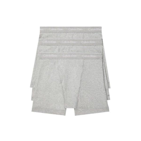 Pack 3 Boxer Hombre Calvin Klein Brief Cotton Stretch Grey   Original