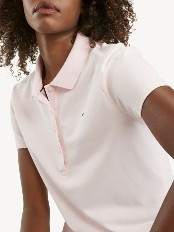 Polo Mujer Tommy Hilfiger Regular Fit Essential Stretch Pink | Original