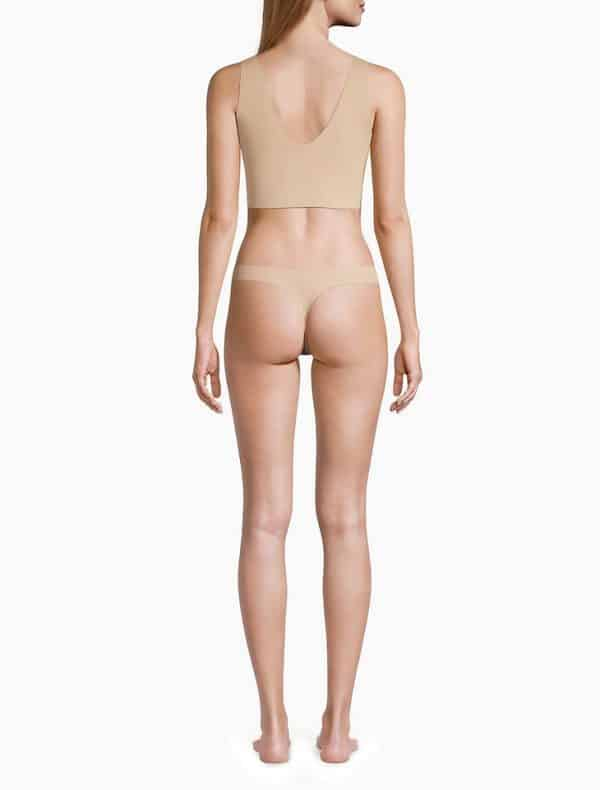 Pack 2 Tangas Mujer Calvin Klein Invisibles Thong Beige | Original