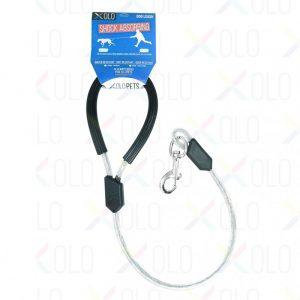 Correa Reforzada para Mascotas con Cable de Acero y Gancho de Seguridad | 40 cm