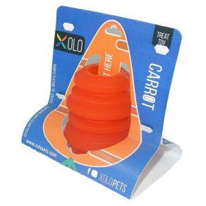 Juguete dispensador de golosinas para perros razas pequeñas y medianas | Carrot
