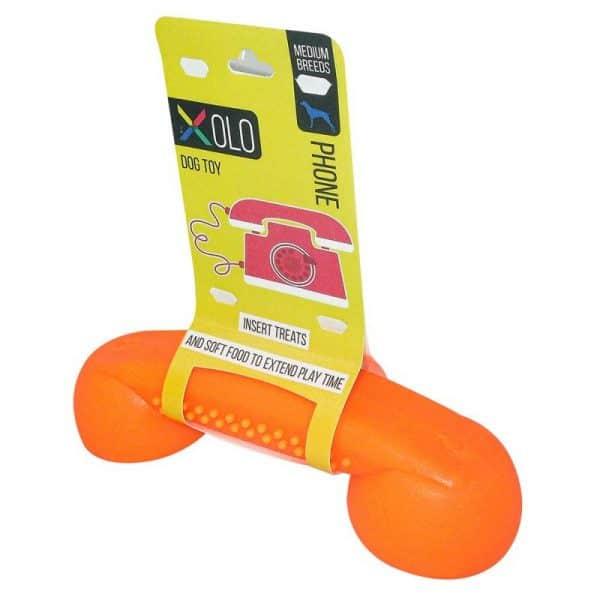 Juguete dispensador de golosinas para perros razas medianas y grandes | Telefono