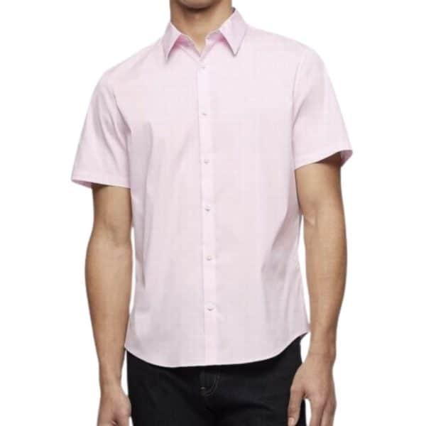 Camisa Hombre Calvin Klein Shirt Manga Corta Stretch Cotton Button-Down Solid Candy | Original